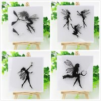 Wholesale Angels Transparent Clear Silicone Stamp Seal for DIY scrapbooking photo album Decorative clear stamp sheets