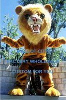 big cats lion - Big Cat Lion Mascot Costume Adult Size Cartoon Character Animal Theme Carnival Party Cosply Mascotte Mascota Suit Kit Fancy Dress SW1011