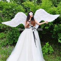 Wholesale Performance props carnival ruslana korshunova wings near meters large wings white black purple grey Angel Feather wings