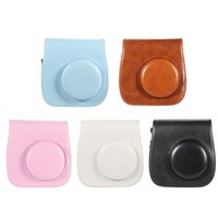 Wholesale 1PC Leather Camera Case Bag Cover Single Shoulder Bag for Fuji Fujifilm Instax Mini8 Mini8s Colors Camera Bags DHL D1906
