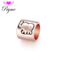 bead bracelet patterns - 2016 Fashion Endless Charms DIY Pryme Jewelry Gifts Endless Bracelet With Elephant Pattern Slide Bead Charms Color EP