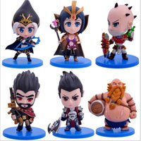 Wholesale Anime Game LOL Character Model Action Figure Toys Darius Leblanc Gragas Ashe Singed Graves PVC Action Figure Collectible Model doll toy