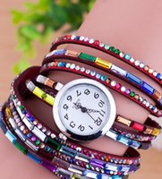 Wholesale Girl Friendship Infinity Bracelet Watch Hand Made Three Times Winding Watches Female Antique Dress Pin Buckle Round Wristwatch