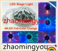 Wholesale AC90 V W LED Mini Auto Voice activated Rotating Party Lighting Sunflower LED Lights RGB Disco DJ KTV Stage Lidht
