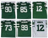 Wholesale Throwback Classic Retro Joe Namath Joe Klecko Dennis Byrd Wesley Walker Mark Gastineau Men Sport Jerseys Stitched Name