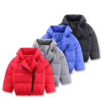 Wholesale Winter Children Snow Wear Baby Down Coats Fashion Kids Down Padded Jackets White Duck Down Zipper Coat