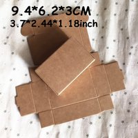 aseptic carton packaging - 50PCS CM Brown Carton Kraft Packaging Boxes Soap Gift Paper Box Party Favor Craft Packing Box Wedding Party Supplies