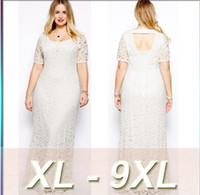 beautiful dresses for big women - Plus size Elegant Long Bridesmaid dresses XL XL short sleeved women prom evening Dresses full lace dress for Beautiful big fat women by DHL