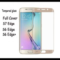 Wholesale Full covered mm D S7 S7edge s6edge plus s6 edge tempered glass protector H Hardness with retail box