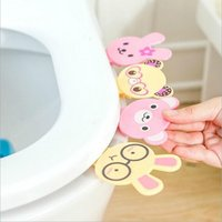 bath seat lift - Bath Products Cartoon Toilet Cover Lifting Device Toilet Lid Portable Handle Toilet Seat Clamshell Cute Glasses Rabbit XHH05393