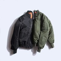 air force cross - Fall Jacket Ma1 Puffer Style Thick Army Green Military Flying Ma Flight Jacket Pilot Air Force Men Bomber Jacket