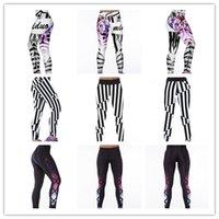 active technologies - Women Italian printing technology Sports Yoga Pants Elastic Compression Tights Running Leggings Calzas Deportivas Mujer