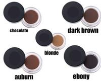 Wholesale 5 colors A Eyebrow Kit Fast drying Waterproof Eyebrow Blonde Auburn Chocolate Dark Brown Ebony by DHL color