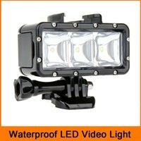 Wholesale Camera LED video POV flash fill light night light waterproof video ight for Gopro Hero Session SJCAMsj5000 Xiaoyi Diving Lover