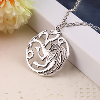 alloy new house - New Arrive Game of Thrones House Targaryen Pendant Necklace Fire and Blood Dragon Game of throne Vintage Jewelry
