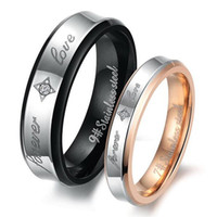 band ls ring - LS JEWELRY Christmas Lover s gift stainless steel couple finger rings Wedding Bands retro style CZ diamond
