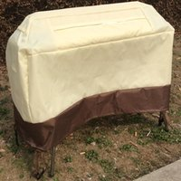 Wholesale DHL free Outdoor Waterproof Dustproof Barbeque Grill Cover Fits Most Brands Inch Grill Covers Khaki