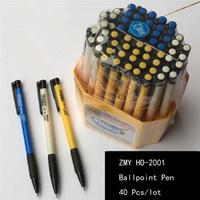 Wholesale 40pcs mm Ballpoint Signature Business Office Financial Pen Marker Stationery pens
