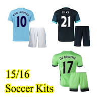 Wholesale 2015 Thai Quality Man City Soccer Jerseys uniforms Football jersey suits Soccer Jersey kits