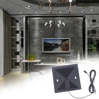 amplified hdtv antenna - Brand New Thin Flat Signal Amplified HDTV Digital Indoor Antenna UHF VHF Analog Hot new