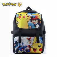 ac shoulder - New Hello Kitty Female backpack cartoon anime Pikachu Double Shoulder Anti Water Boy Girls school bags ac a dos enfant