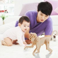 Wholesale 3D Three dimensional Wooden Monkey Style Jigsaw Puzzle Toys for Children Kid Handmade Wood Nice Gift RJ P0634