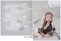 Wholesale 5 FT Baby Newborn Backgrounds Photography Backdrops Toile De Fond Studio Photo Thin Cloth Vinyl Backdrops For Photography Children S