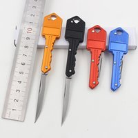 aluminum cutting blades - Outdoor gadgets folding key knife travel camping wild mini tools fruit cutting or self defense steel knives