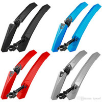 Wholesale MTB Road Bike Front Rear Fenders Mudguard Front Rear Quick Release Wings for Bicycle Cycle Mud Guard Bike Parts Accessories