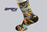 elite socks - APEY men compression color socks ankle socks for man elite brand sports socks for men outdoor basketball socks for summer
