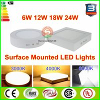 ac panel mount - Surface Mounted Panel Light Led Downlight lighting w w w w round square Led ceiling down lights AC V