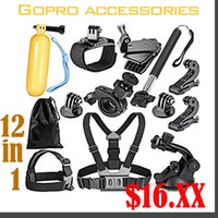 Wholesale 12 In Sport Accessory Kit for GoPro Hero1 SJ4000 in Swimming Rowing Skiing Climbing Bike Rowing Skiing Climbing Bike