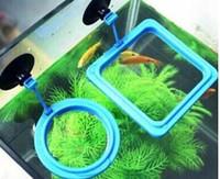 Wholesale hot sales Aquarium Fish Tank Round Square Plastic Fish Feeder Feeding Station Floating Food Feeding Circle