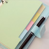 Wholesale A5 A6 A7 Colorful Dividers page Index page Category pages Loose leaf notebook Every other page Hand account Page paper Standard holes