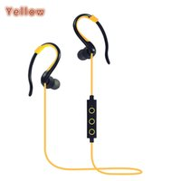 Wholesale Wireless Bluetooth Headset Sports Ear Earhook Stereo Earphone Headphones Color