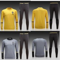 Wholesale Juventus football clothing training suit men breathable long sleeved winter sweater T shirt Juventus jersey