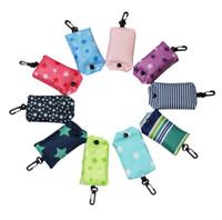 Wholesale waterproof flower Cloth phone folding shopping bag of environmental protection bag shoulder bag supermarket large capacity shopping bag