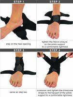 ankle sprain strain - Custom Design Print Logo Adjustable Neoprene Ankle Brace for Running Basketball Ankle Sprain Strain Men Women