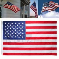 Wholesale 90 cm FT American Flag USA US U S Sewn Stripes Embroidered Stars Brass Grommets