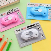 Wholesale Mini Hand Tool Travel Easy Carry Pencil Knife Mini tape cutter Convenient Adjustable Knife