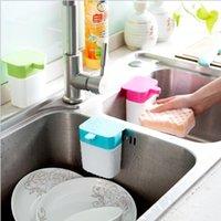 Wholesale hot sale kitchen storage box Kitchen sink with sucker fixed points bottling bathroom detergent hand sanitizer squeeze bottle free shippin