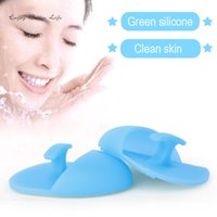 Wholesale Facial Exfoliating Brush Soft Silicone Wash Face Cleaning Brush Pad Massage Washing and Pore Cleanser Skin SPA Scrub Cleanser Tool