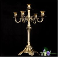 Wholesale H41cm bronze alloy metal centerpiece candelabra candelabrum candle holder candlestick home Christmas wedding decoration ZT002