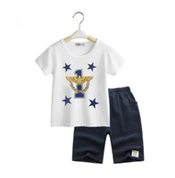 baby eagles - China brand new Kids summer clothes baby boy clothes Boys sets eagle t shirt shorts boys clothing pre school children sets drop shippin
