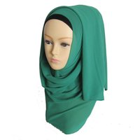 Wholesale 10pcs Big Large Solid Hijab Scarf Fashion Wraps Foulard Viscose Chiffon Maxi Shawls Soft Long Islamic Scarves ch003 z20
