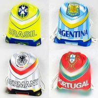 Wholesale Euro Cup Backpacks Brasil France Italy Portugal Drawstring Bags Kids Women Men Football Bags Sneakers Bags Kids Gift