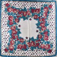 Cheap Blue Floral Pattern Satin Scarf 2015 Fashion Brand Polyester Silk Scarf Printed For Women Large Square Silk Shawl 90*90cm M61871