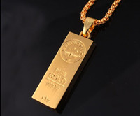 act days - 2016 new arrival Necklace hip hop jewelry jewelry Gold bars pendant Men and women Hip hop act the role ofing is tasted EXL106