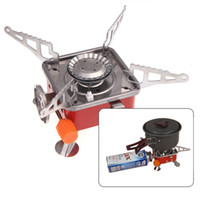 Wholesale NEW Outdoor W Steel Portable Stove Cooker Gas Burner for Camping Picnic Cookout BBQ