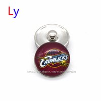 basketball beads - Noosa chunks Pendant Bracelet mm Snap button Cleveland Cavalier basketball sports interchangeable jewelry for Sports fans NE0037